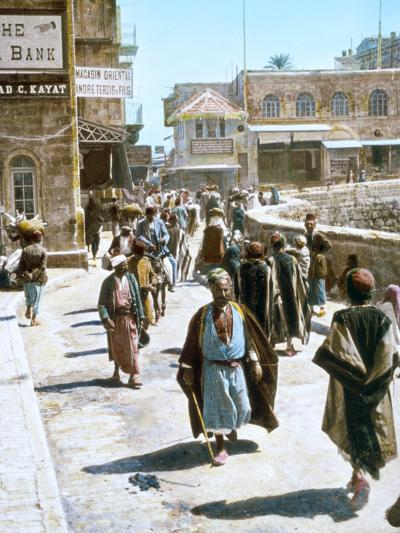 Jerusalem Street Scene--Photographic Print