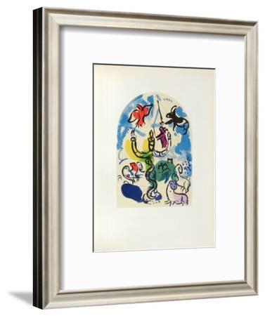Jerusalem Windows : Dan (Sketch)-Marc Chagall-Framed Collectable Print