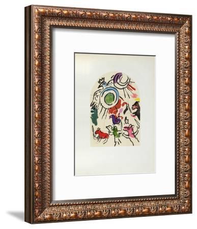 Jerusalem Windows : Gad (Sketch)-Marc Chagall-Framed Collectable Print