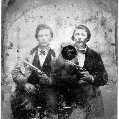 Jesse and Frank James, C.1866-76--Photographic Print