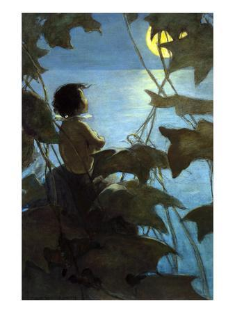 He Looked Up at the Broad Yellow Moon and Thought That She Looked at Him