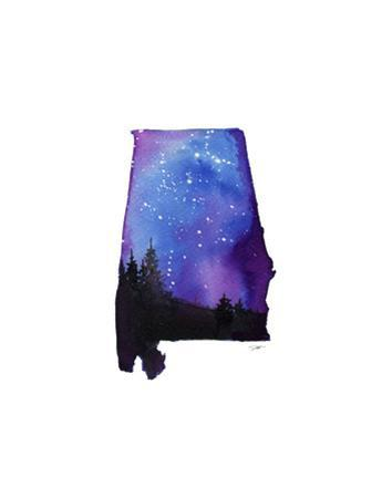 Alabama State Watercolor