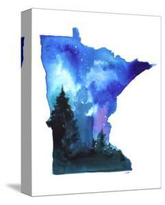 Minnesota State Watercolor by Jessica Durrant