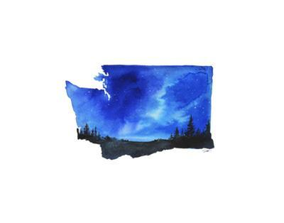 Washington State Watercolor by Jessica Durrant