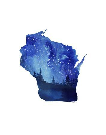 Wisconsin State Watercolor