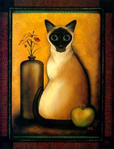 Framed Cat I by Jessica Fries