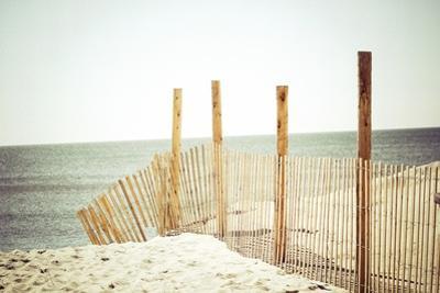 Wooden Beach Fence