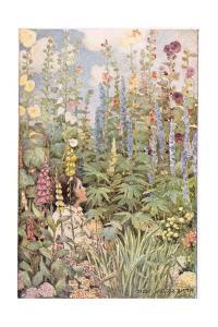 A Child in Wild Flowers, from 'A Child's Garden of Verses' by Robert Louis Stevenson, Published… by Jessie Willcox-Smith
