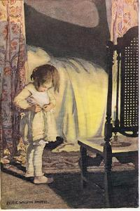 A Young Girl Undressing, from 'A Child's Garden of Verses' by Robert Louis Stevenson, Published… by Jessie Willcox-Smith