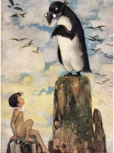 And There He Saw the Last of the Gairfowl, Illustration from 'The Water Babies' by Reverend… by Jessie Willcox-Smith