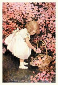 Betty's Posy Shop by Jessie Willcox-Smith