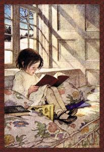 Books in Winter by Jessie Willcox-Smith