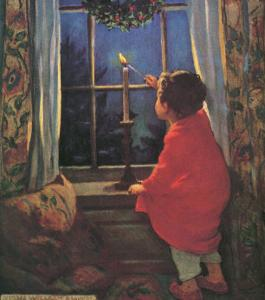 Child Lighting Candle by Jessie Willcox-Smith