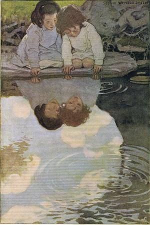 Children Looking at their Reflections, from 'A Child's Garden of Verses' by Robert Louis…