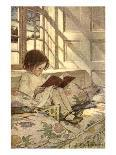 A Girl Reading, from 'A Child's Garden of Verses' by Robert Louis Stevenson, Published 1885-Jessie Willcox-Smith-Giclee Print