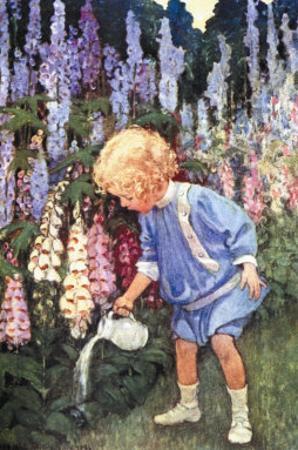 Fairy Gardens by Jessie Willcox-Smith
