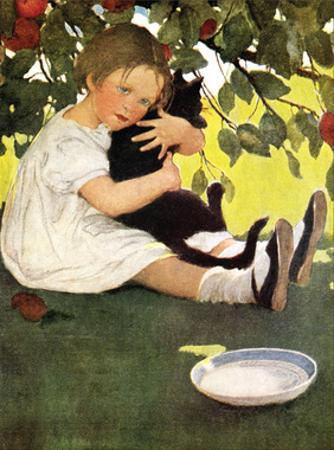 Girl and Cat by Jessie Willcox-Smith