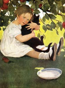 Girl and Cat by Jessie Willcox-Smith