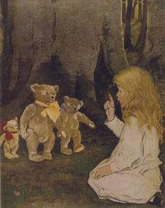 Goldilocks Gives Three Teddy Bears a Talking-To by Jessie Willcox-Smith