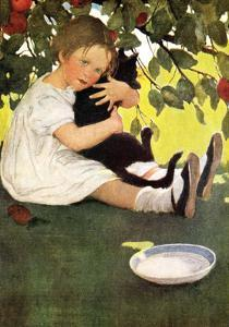 Hugging the Cat by Jessie Willcox Smith