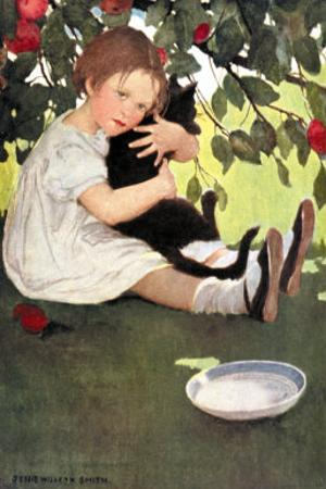 I Love Little Pussy by Jessie Willcox-Smith