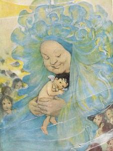 Mrs Doasyouwouldbedoneby, Illustration for 'The Water Babies' by Reverend Charles Kingsley by Jessie Willcox-Smith