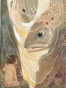 'Oh, Don't Hurt Me! Cried Tom. I Only Want to Look at You; You are So Handsome' Illustration for… by Jessie Willcox-Smith