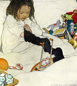Opening the Christmas Stocking, 1902 by Jessie Willcox-Smith