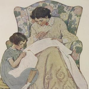 Sewing by Jessie Willcox-Smith