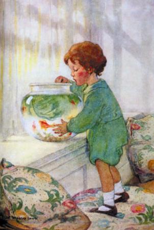 The Goldfish by Jessie Willcox-Smith