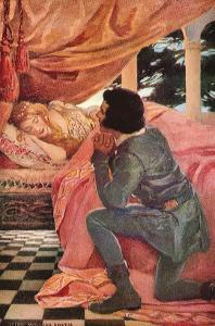The Sleeping Beauty, 1911 by Jessie Willcox-Smith