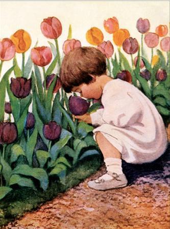 Tulip Time by Jessie Willcox-Smith