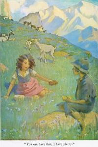 You Can Have That, I Have Plenty', Illustration from 'Heidi' by Jessie Willcox-Smith