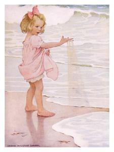 Young Girl in the Ocean Surf by Jessie Willcox-Smith