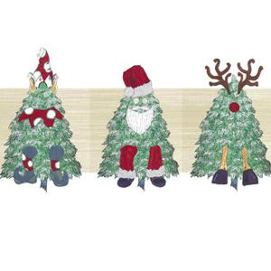 2 Christmas Tree Characters Image by JessMessin
