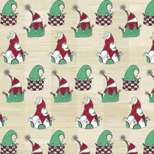 2 Christmas Tree Elves Hats Wp Natural by JessMessin