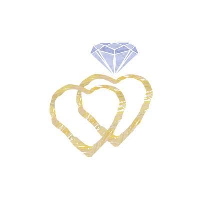 Heart Wedding Ring Set