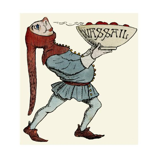 Jester Carrying a Wassail Bowl--Giclee Print