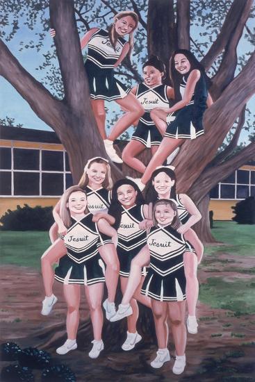 Jesuit Cheerleaders in a Tree, 2002-Joe Heaps Nelson-Giclee Print