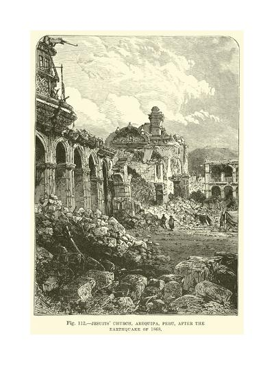 Jesuits' Church, Arequipa, Peru, after the Earthquake of 1868--Giclee Print