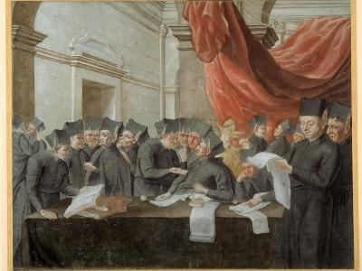 Jesuits in Conclave, Arguing over Accounts--Giclee Print