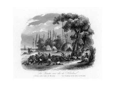 Jesuits in the Nicobar Islands, India, C1840-N Remond-Giclee Print