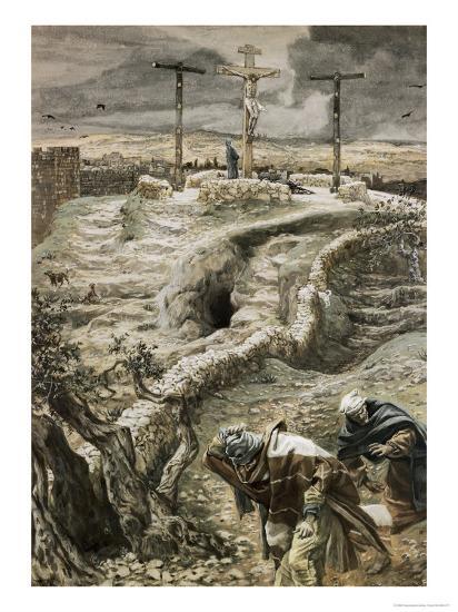 Jesus Alone on the Cross-James Tissot-Giclee Print