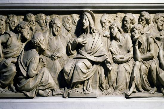 Jesus and Apostles, Bas-Relief of Pulpit of Nola Cathedral, Campania, Italy, 19th-20th Century--Giclee Print
