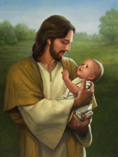 Jesus and Baby-David Lindsley-Giclee Print