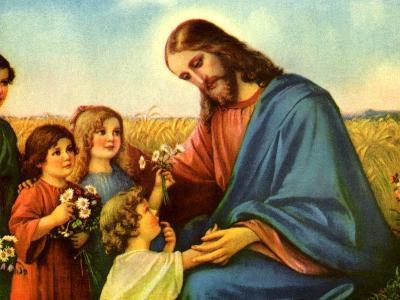 Jesus and Children--Giclee Print