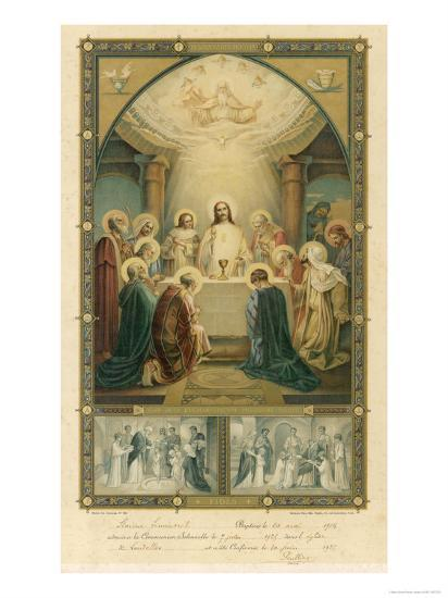 Jesus and His Disciples at the Last Supper--Giclee Print