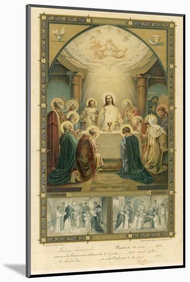 Jesus and His Disciples at the Last Supper--Mounted Giclee Print