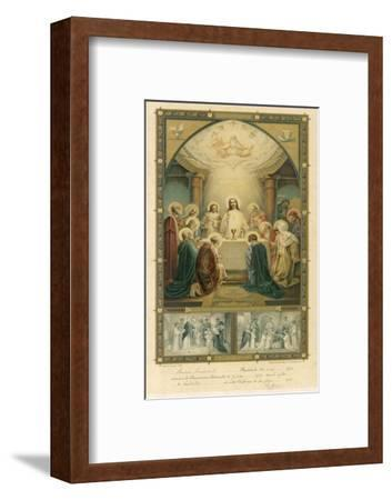 Jesus and His Disciples at the Last Supper--Framed Giclee Print