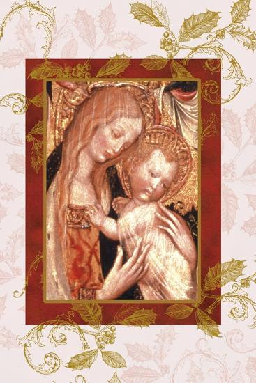 jesus and mary in icon style-Maria Trad-Premium Giclee Print
